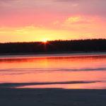 Sonnenuntergang Võsu, Estland