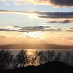 Mitternachtssonne Varangerfjord, Norwegen