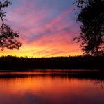 Sonnenuntergang Dalsland, Schweden