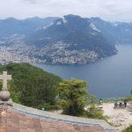Blick vom San Salvatore auf Lugano, Schweiz