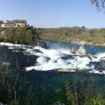 Rheinfall mit Schloß Laufen, Schweiz